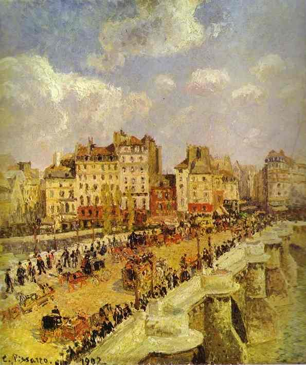 famous painting A Pont-Neuf of Camille Pissarro
