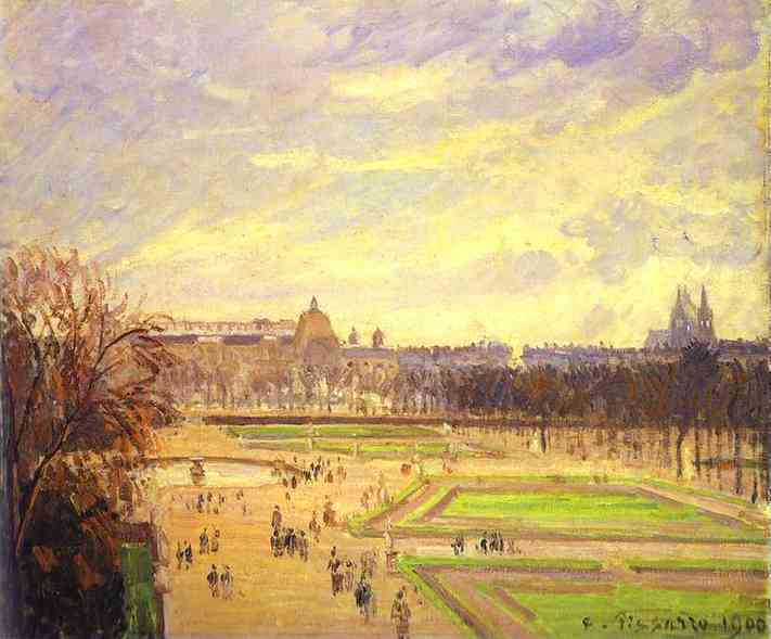 famous painting Gardens of Tuileries (Jardin des Tuileries) of Camille Pissarro