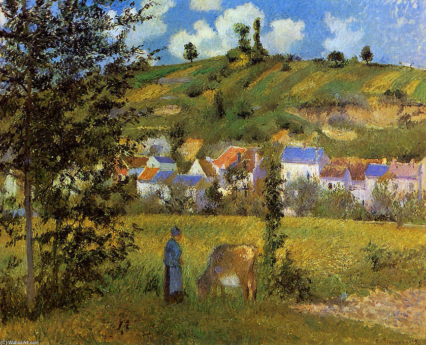 famous painting Landscape at Chaponval of Camille Pissarro
