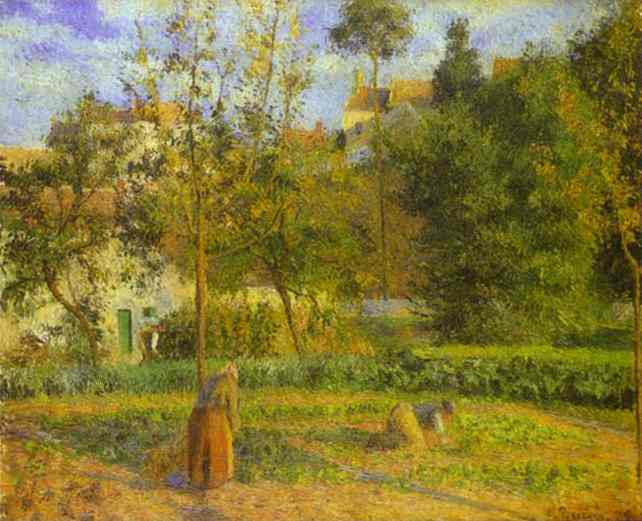 famous painting Vegetable Garden at the Hermitage near Pontoise of Camille Pissarro
