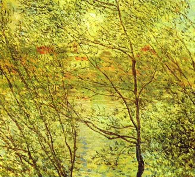 famous painting Banks of the Seine of Claude Monet