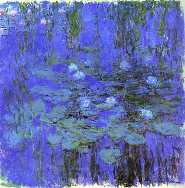 Buy Museum Art Reproductions Impressionism | Blue Water Lilies by Claude Monet | TopImpressionists.com