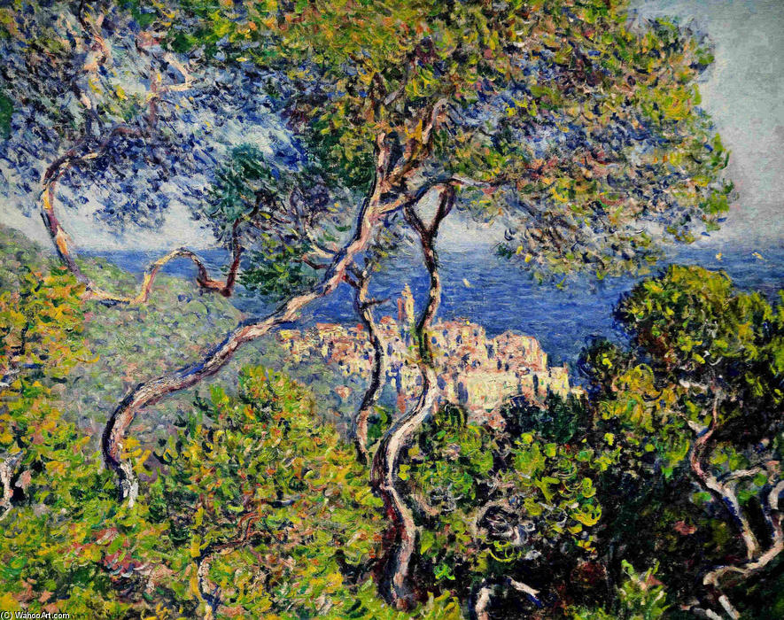 famous painting Bordighera of Claude Monet
