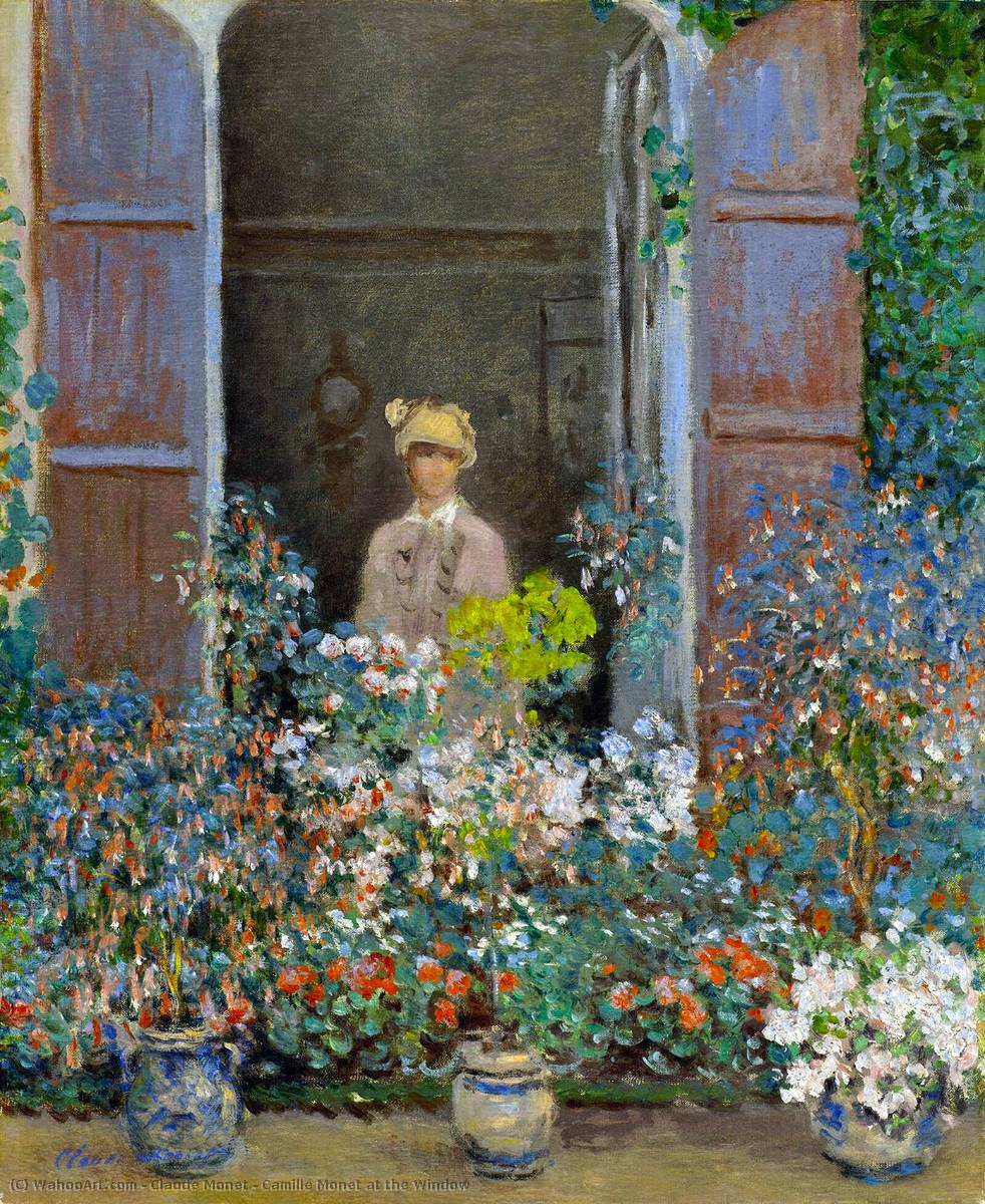 Order Museum Quality Copies Impressionism | Camille Monet at the Window by Claude Monet | TopImpressionists.com
