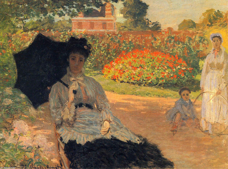 famous painting Camille Monet in the Garden of Claude Monet