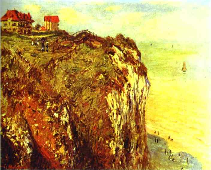 famous painting Cliffs near Dieppe of Claude Monet