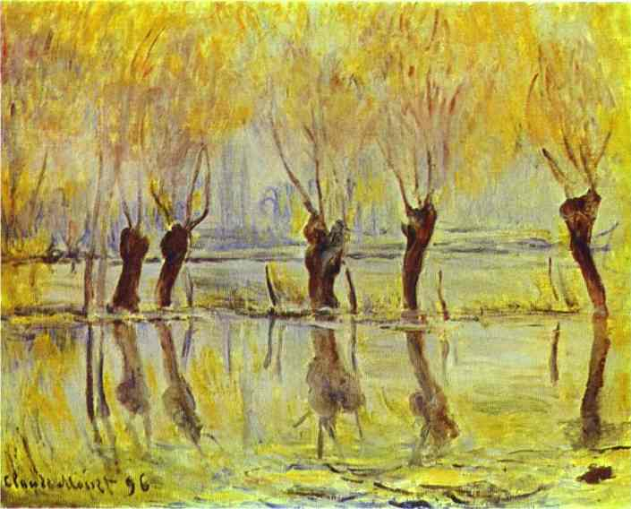 famous painting Flood at Giverny of Claude Monet