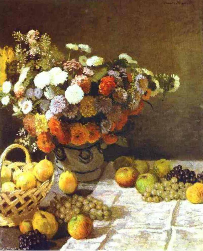 famous painting Flowers and Fruits of Claude Monet