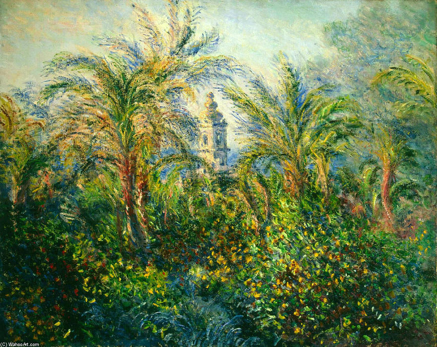 famous painting Garden in Bordighera, Impression of Morning of Claude Monet