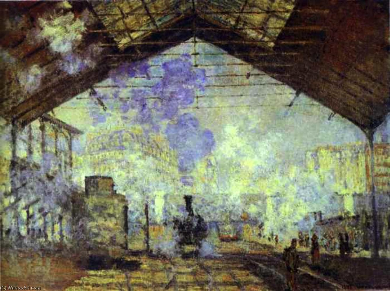 Order Museum Quality Copies Impressionism | Gare Saint Lazare, Pari by Claude Monet | TopImpressionists.com