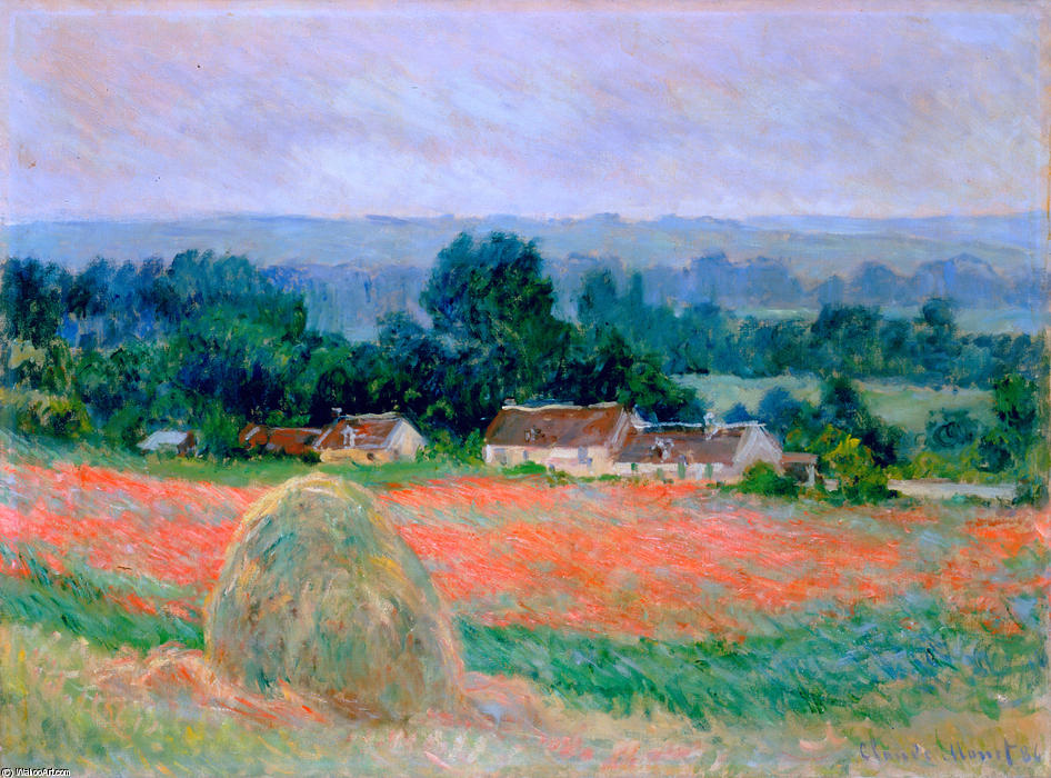 famous painting Haystack at Giverny of Claude Monet