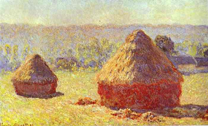 Order Paintings Reproductions Impressionism | Haystack. End of the Summer. Morning by Claude Monet | TopImpressionists.com