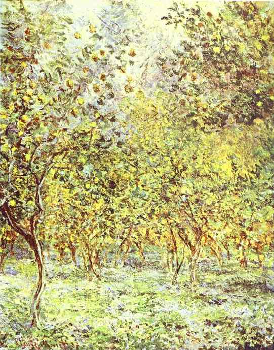 famous painting Lemon-Trees. Bordighera of Claude Monet