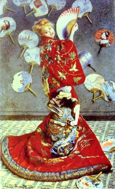 Order Art Reproductions Impressionism | Madame Monet in Japanese Costume (La Japonaise) by Claude Monet | TopImpressionists.com