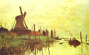 Claude Monet - Mill near Zaandam