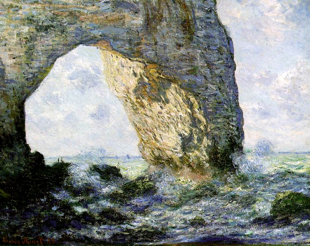 famous painting Rock Arch West of Etretat (The Manneport) (1 of Claude Monet