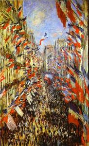 Claude Monet - Rue Montorgueil, Paris, Festival of June 30, 1878