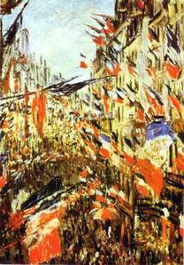 Claude Monet - Rue Saint-Denis, Festivities of 30 June, 1878