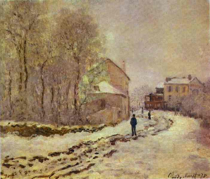 famous painting Snow at Argenteuil of Claude Monet