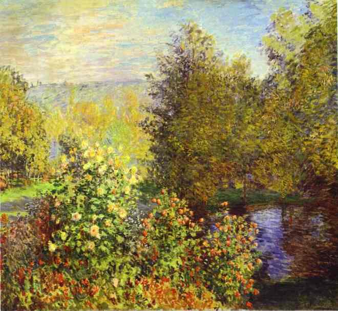 famous painting The Corner of the Garden at Montgeron of Claude Monet