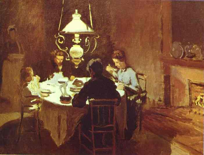 famous painting The Dinner of Claude Monet