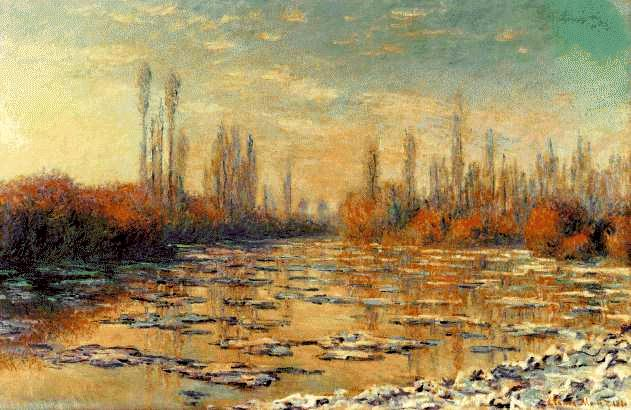 famous painting The Floating Ice of Claude Monet