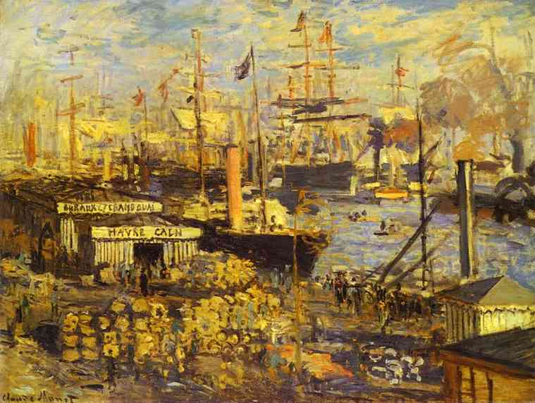 famous painting The Grand Dock at Le Havre (Le Grand Quai au Le Havre) of Claude Monet