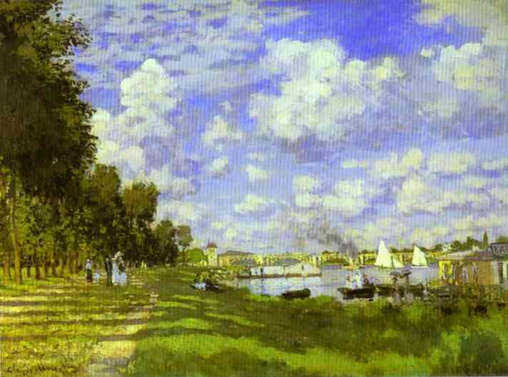 famous painting The Harbour at Argenteuil of Claude Monet