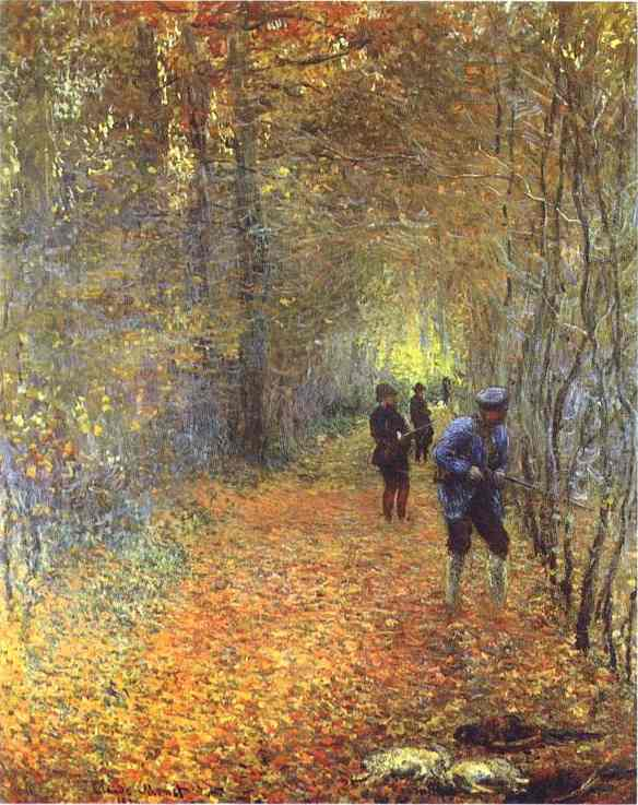 famous painting The Hunt of Claude Monet