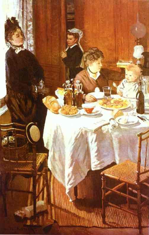 famous painting The Luncheon of Claude Monet
