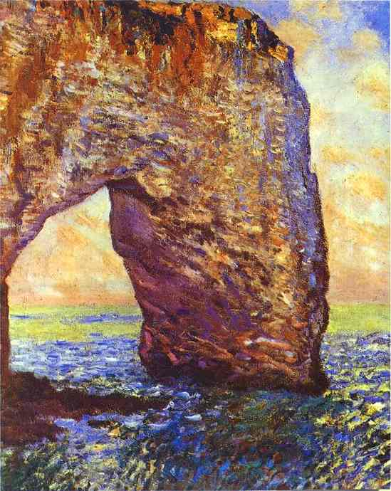 famous painting The Mannerportre near Etretat of Claude Monet