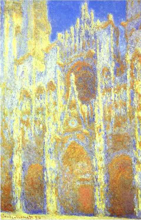 famous painting The Rouen Cathedral at Twilight of Claude Monet