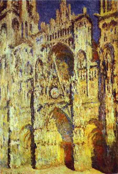 famous painting The Rouen Cathedral of Claude Monet