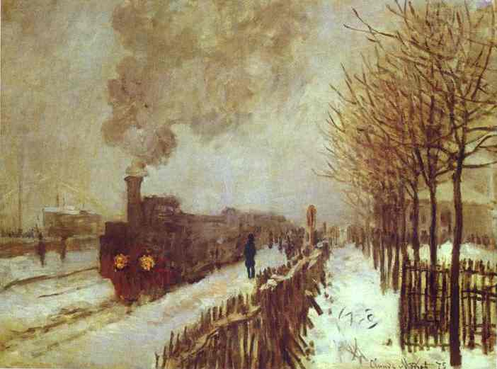 famous painting The Train in the Snow of Claude Monet