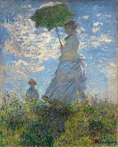 Claude Monet - The Walk. Lady with a Parasol