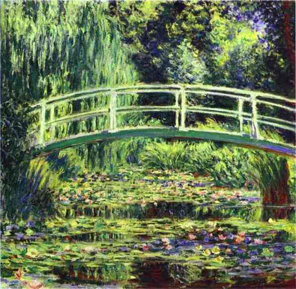 famous painting The White Water Lilies of Claude Monet