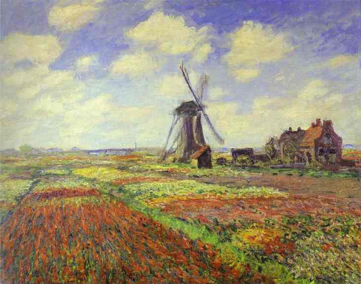 famous painting Tulip Fields in Holland of Claude Monet