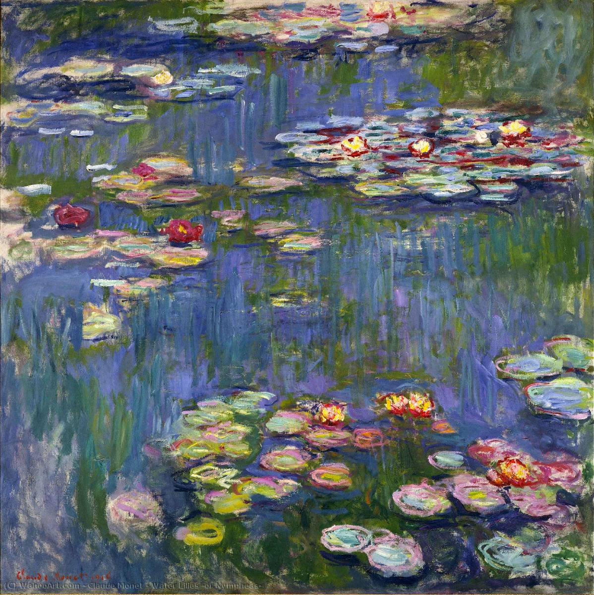 Buy Museum Art Reproductions Impressionism | Water Lilies (or Nympheas) by Claude Monet | TopImpressionists.com