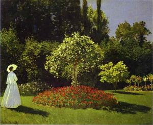 Claude Monet - Woman in the Garden (Saint-Adresse)