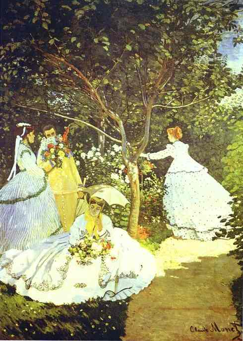 famous painting Women in the Garden of Claude Monet