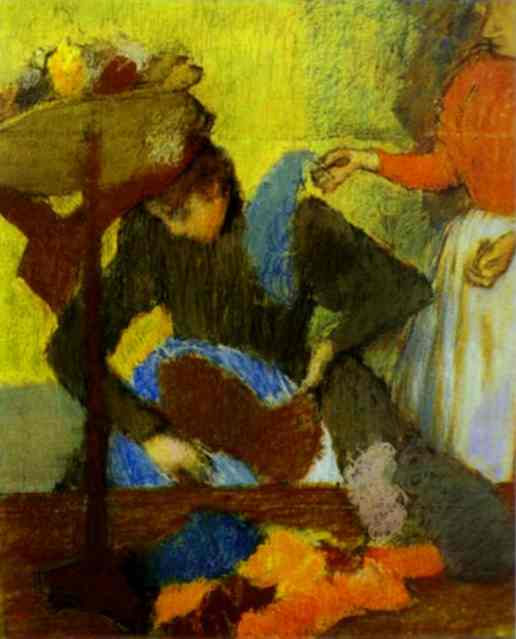 famous painting At the Milliner's of Edgar Degas