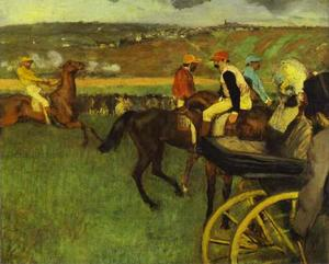 Edgar Degas - At the Races, Amateur Jockeys