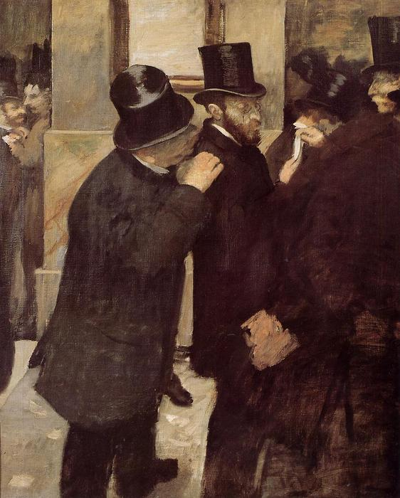 famous painting At the Stock Exchange of Edgar Degas