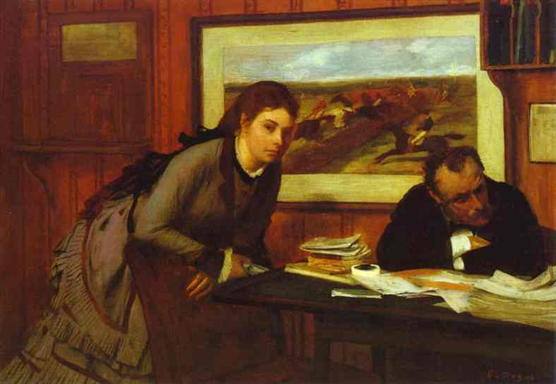 famous painting Bad Mood of Edgar Degas
