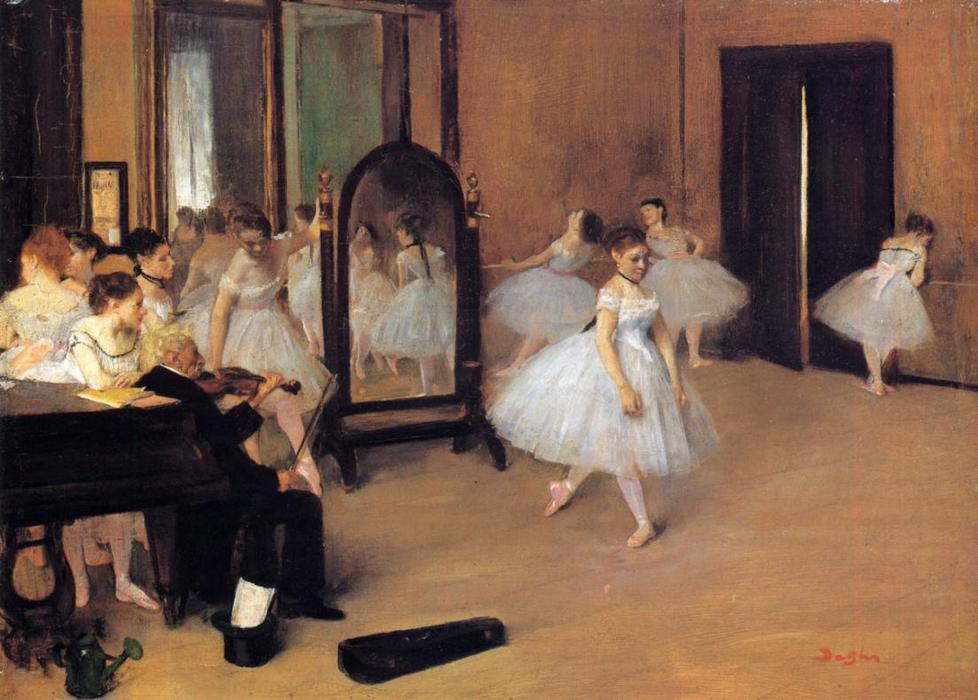 famous painting Dance Class of Edgar Degas