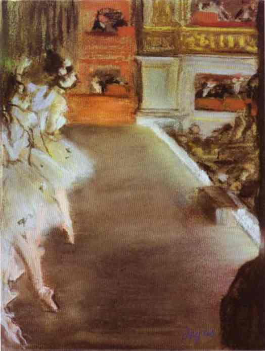 famous painting Dancers in the Old Opera House of Edgar Degas