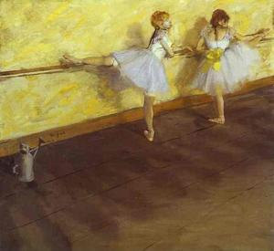 Edgar Degas - Dancers Practising at the Bar