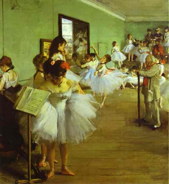 famous painting Dancing Examination of Edgar Degas