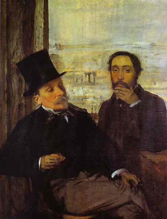famous painting Degas and Evariste de Valernes, Painter and a Friend of the Artis of Edgar Degas