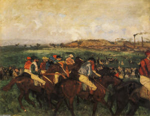 Edgar Degas - Gentlemen Jockeys before the Start